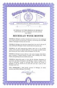 Mich_WineMonthProclamation